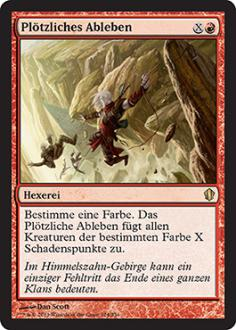Commander 2013: Pl�tzliches Ableben