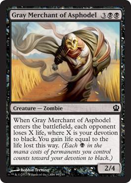 Theros Gray Merchant of Asphodel