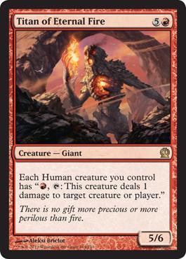 Theros Titan of Eternal Fire