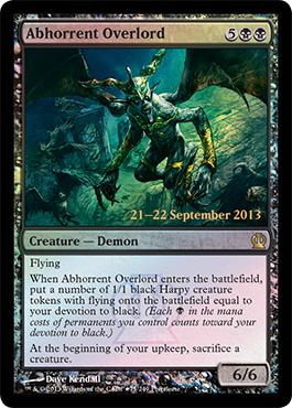 Theros Prerelease Promo Abhorrent Overlord