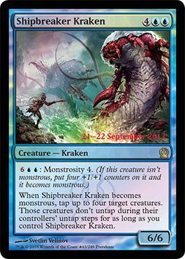 Theros Prerelease Promo Shipbreaker Kraken